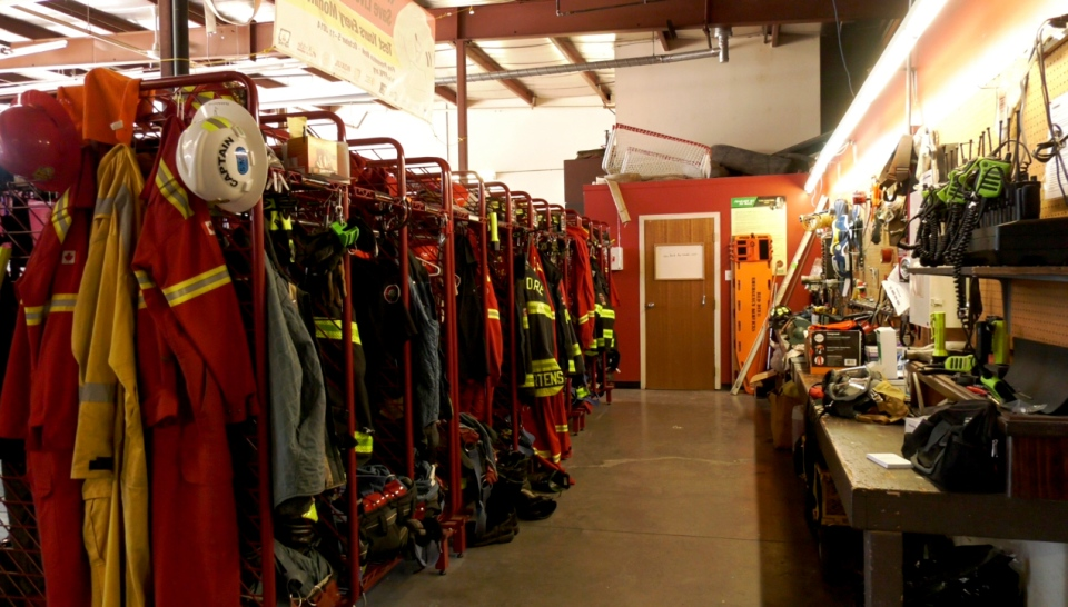 Inside the Sundre fire hall.