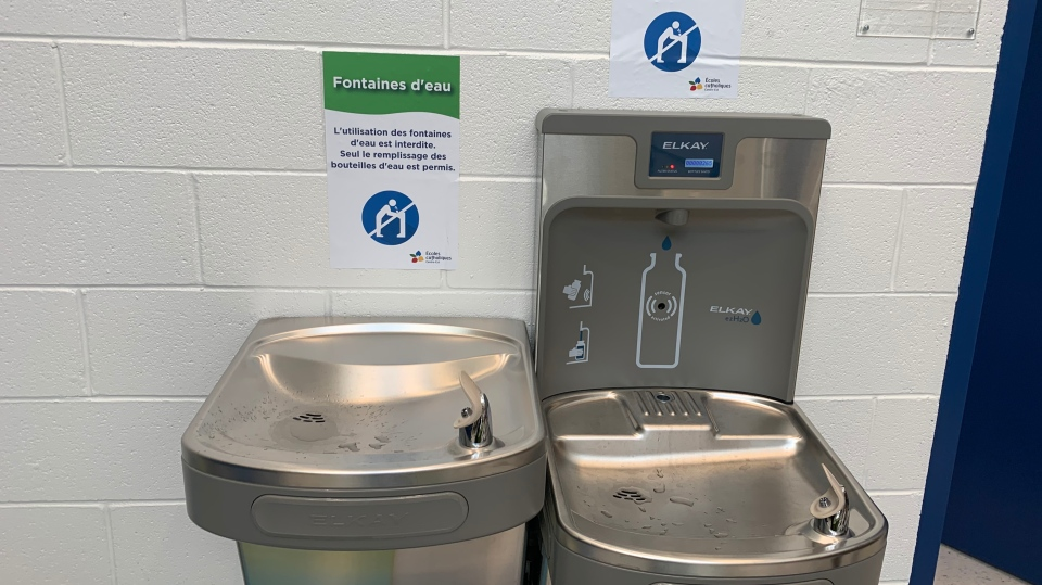 Jonathan Pitre school water fountains