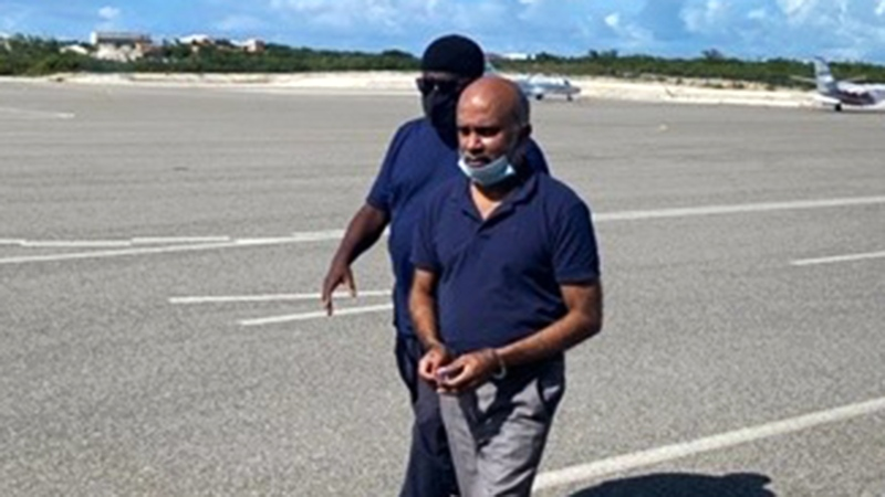 Srikajamukan Chelliah, 55, has pleaded to human smuggling charges in the United States. (Royal Turks and Caicos Islands Police Force)