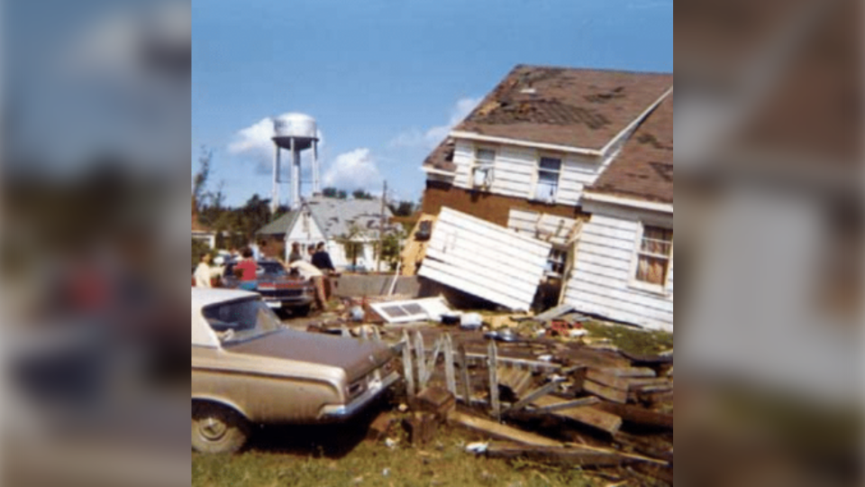 Archival photo of 1970 tornado in Sudbury