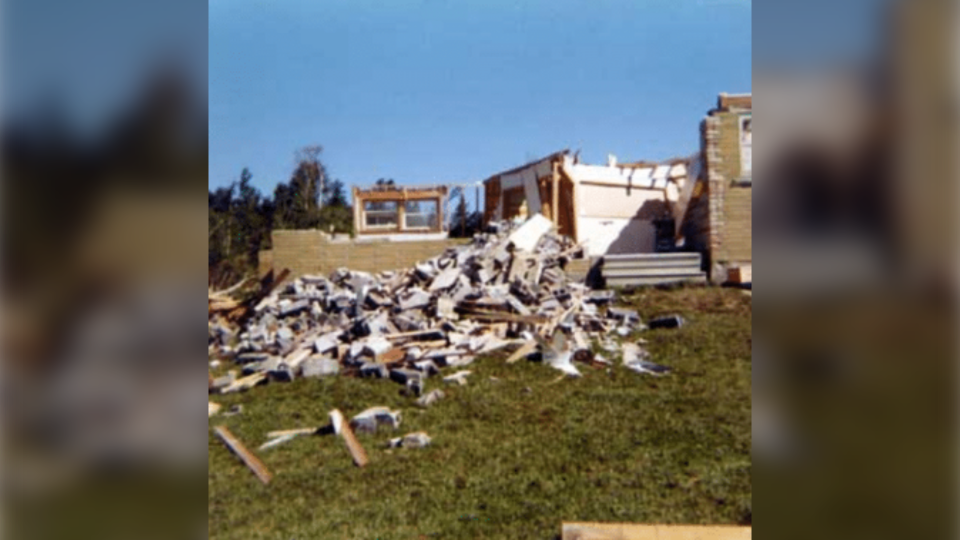 House destroyed by tornado in Sudbury in 1970