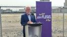Jerry Flegel announces his intentions to run for Regina mayor in the upcoming elections. (Gareth Dillistone/CTV Regina