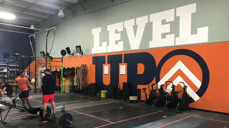 Inside the main gym at All Level Fitness at 1821 Provincial Rd. In Windsor, Aug. 20, 2020. (Rich Garton / CTV Windsor)