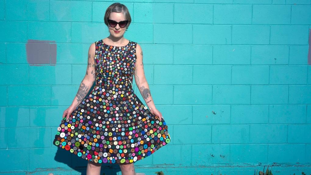 Buttons dress