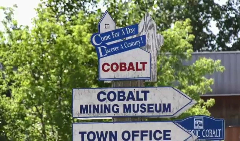 Historical remnants of Cobalt's rich mining history continue to stand tall, and are none the worse for wear.  (Lydia Chubak/CTV News)