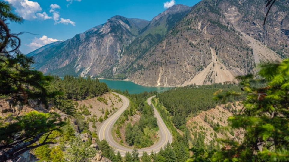 The highway just outside of Lillooet, B.C. at Seton Lake, captured by Jon Lavoie and submitted on Aug. 20, 2020.