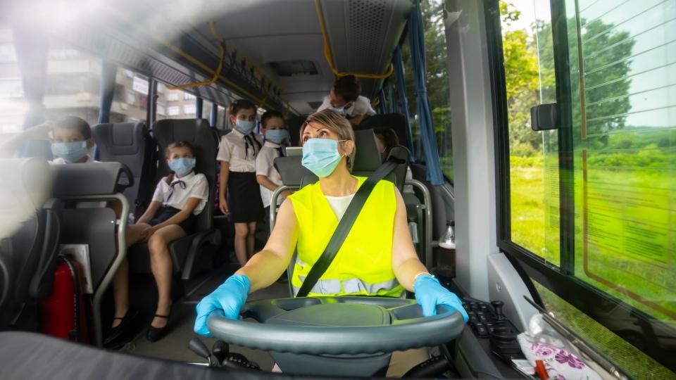 School bus, COVID-19