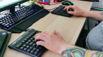 Ergonomic keyboards can help with back pain.
