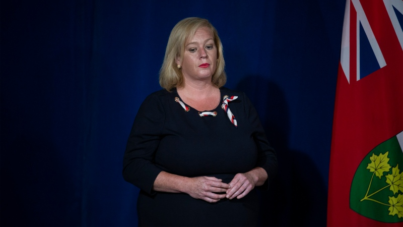 Lisa MacLeod Ontario's Minister of Tourism, Culture, and Sport attends Ontario Premier Doug Ford's daily briefing in Toronto on Monday, June 15, 2020. THE CANADIAN PRESS/Chris Young