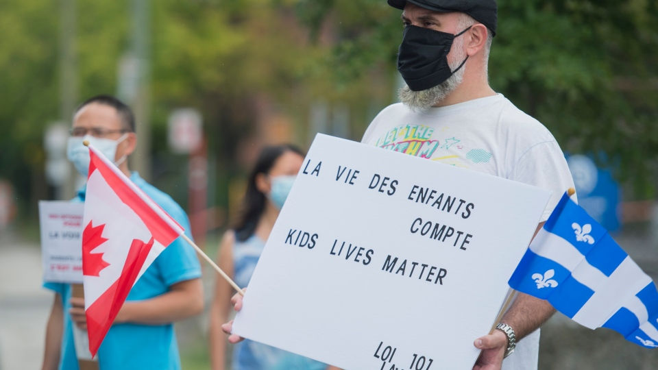 Rally against back to school plan in Montreal
