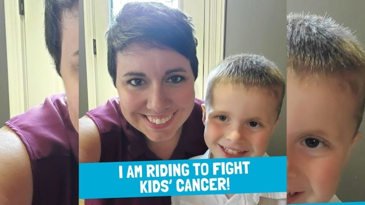 Lori Neville with her son Oliver. (Source: Great Cycle Challenge Canada)