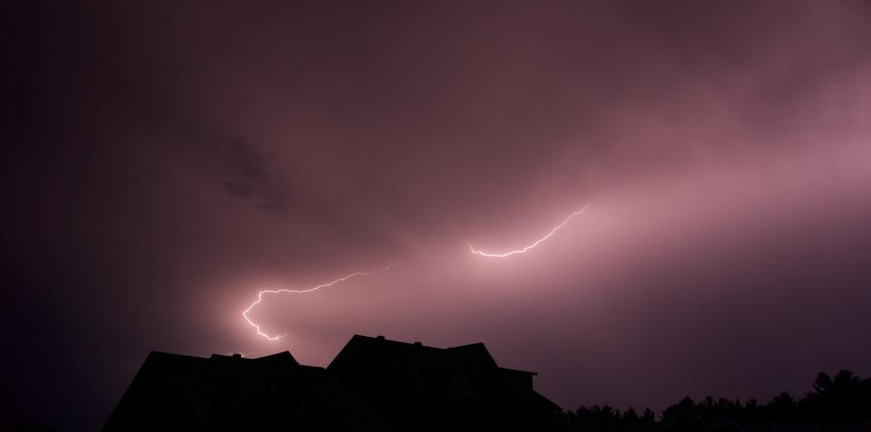 Sunday's thunderstorm