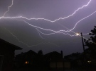 Lightning during the thunderstorm on Aug. 23, 2020. (Mathieux Fortin/CTV Viewer)