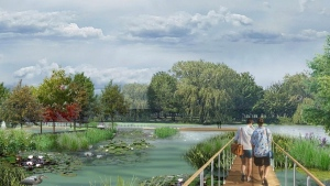 Lachine borough Mayor Maja Vodanovic aid it's time to give the waterfront back to the people, and wants to transform the marina into this park. SOURCE: Lachine borough