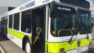 A new multi-patent bus is unveiled by Middlesex-London EMS on Tuesday, Aug. 25, 2020. (Marek Sutherland / CTV News)