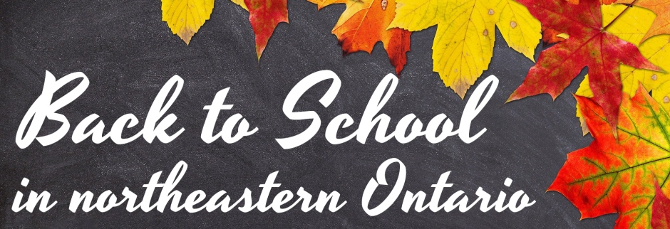 Back to school northeastern Ontario header