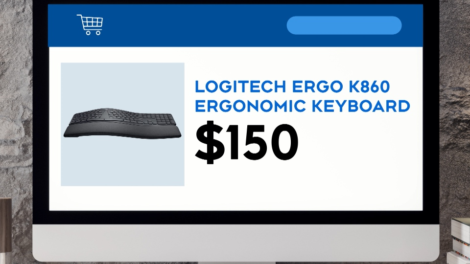 This Logitech keyboard is $150.