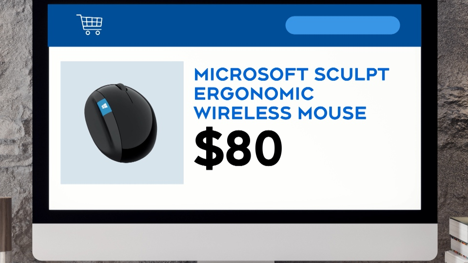 This Microsoft mouse is $80.