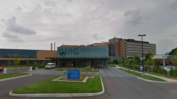 Detroit's Sinai-Grace Hospital, where Timesha Beauchamp remains in critical condition, is seen here. (Source: Google Maps)