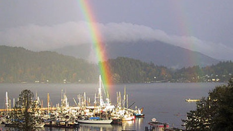 As if the rainbow weren't enough, the community of Gibsons, B.C., has been named the best community with a population of less than 20,000 by a United Nations-endorsed agency. (www.gibsons.ca)