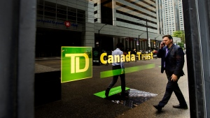 A TD Canada Trust branch is shown in the financial district in Toronto on August 22, 2017. THE CANADIAN PRESS/Nathan Denette