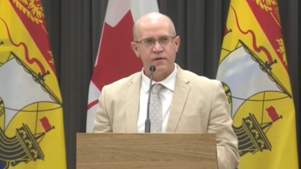 New Brunswick Deputy Education Minister George Daley provides an update on the province's back-to-school plan on Aug. 27, 2020.
