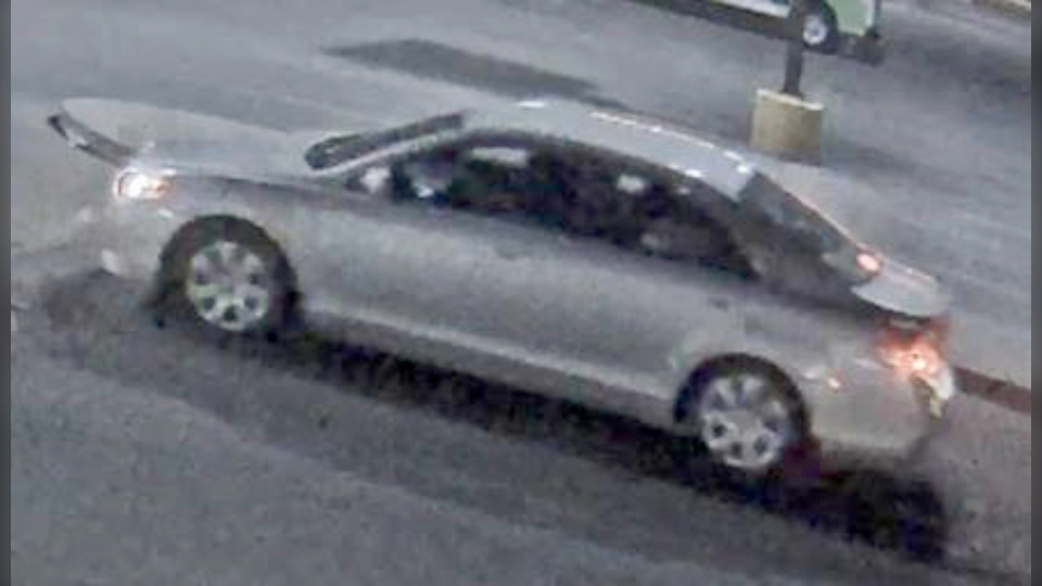 Calgary police released this photo of a silver sedan, believed to be a Toyota Camry, that was involved in a road rage incident. (Calgary police handout)