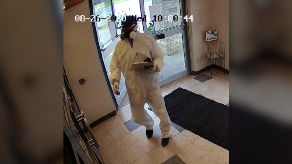hazmat suit robbery