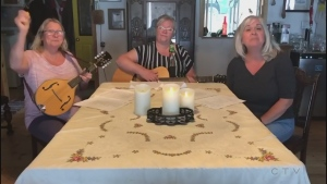 Women in Song, from Blind River, sing a cover of Luke Combs' 'Six Feet Apart.'