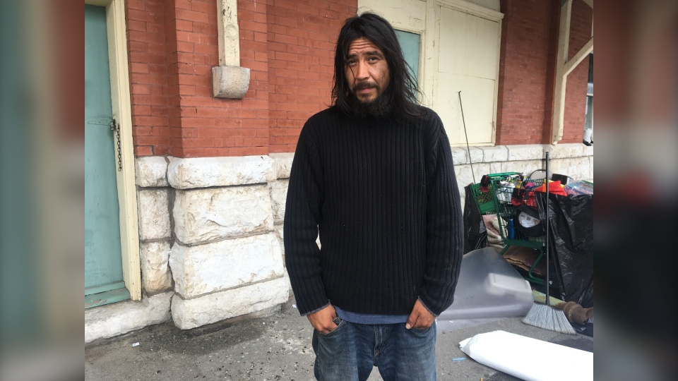 Derek Johnathon Marshall has been living on the streets in Sudbury for the past year. Aug. 27/20 (Alana Everson/CTV Northern Ontario)