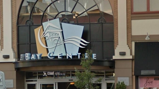 The Bay Centre in downtown Victoria is shown: (Google Maps)