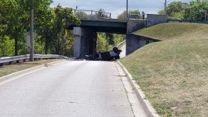 Brantford police have notified the SIU of a serious, single-vehicle crash. (Scott Clarke/CTV Kitchener) (Aug. 29, 2020)
