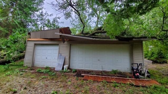 Tornado damage near Point Clark Ont. on Aug. 29, 2020. (Courtesy: Mike Nailor)