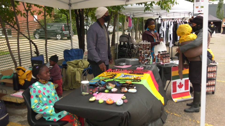 Vendors displaying wares at the Afrodisiac Market. Saturday Aug. 29, 2020 (CTV News Edmonton)