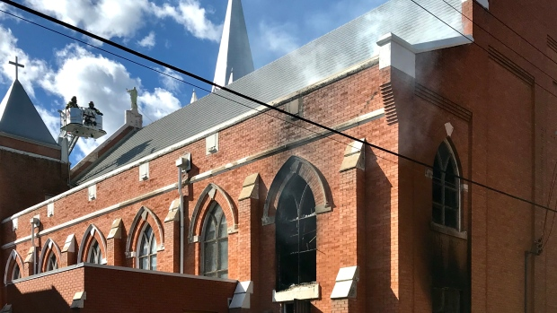 'Sad, dark day': Fire damages 107-year-old church in central Edmonton