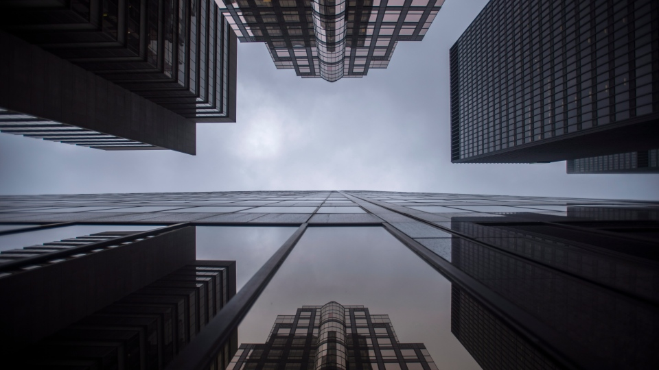 Bank buildings are photographed in Toronto's financial district on June 27, 2018. THE CANADIAN PRESS/ Tijana Martin