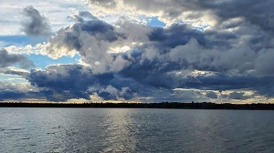 Clouds over Footprint Lake. Photo by Brittney Ferland
