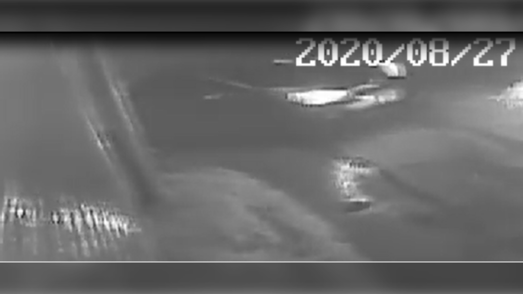 Surveillance footage of suspect vehicle