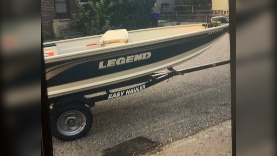 Stolen boat and trailer