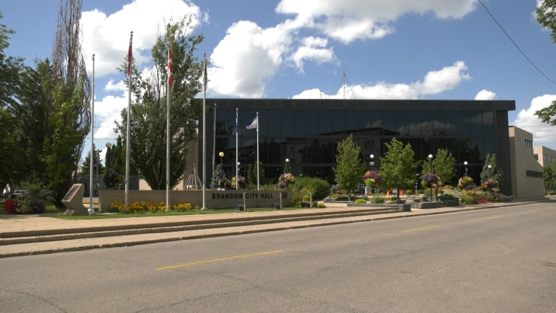 Brandon City Hall is pictured in an undated image.