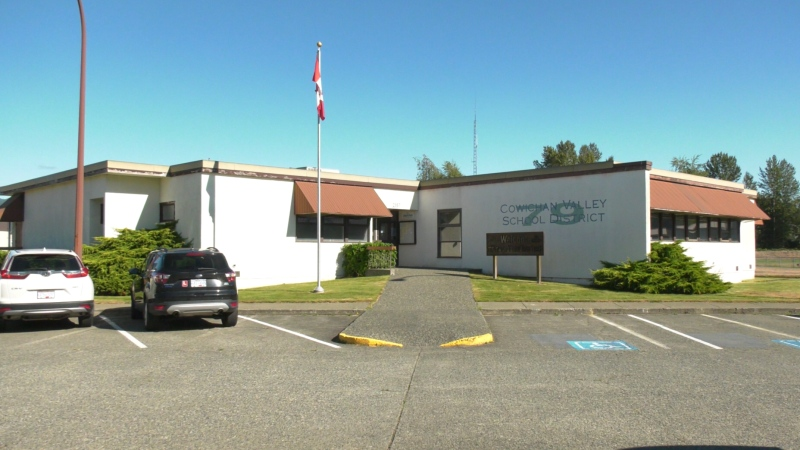 The Cowichan Valley School District office on Sept. 1, 2020. (CTV News)