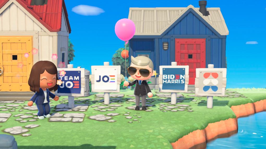 Biden Campaign Brings Logo Designs to Animal Crossing: New Horizons