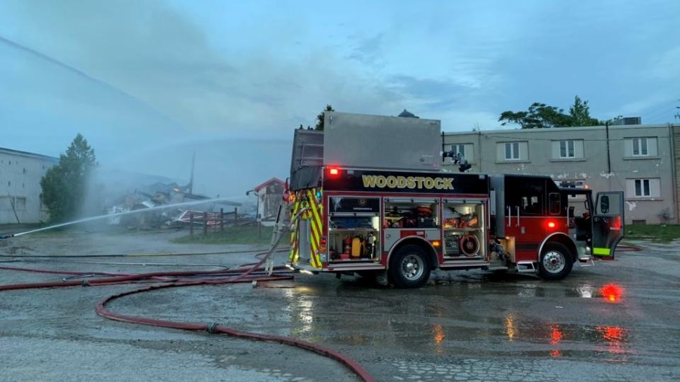 Fairgrounds fire