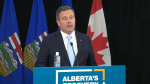 Premier Jason Kenney, Health Minister Tyler Shandro, Finance Minister Tyler Toews and Dr. Verna Yiu highlighted the province's funding commitment to its health system and pandemic response on Tuesday. (file)