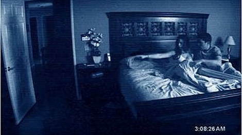 A scene from DreamWorks Pictures' 'Paranormal Activity'