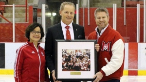 Winningest female hockey coach in McGill University history, Peter Smith, is stepping down as head coach. SOURCE Derek Drummond/McGill University