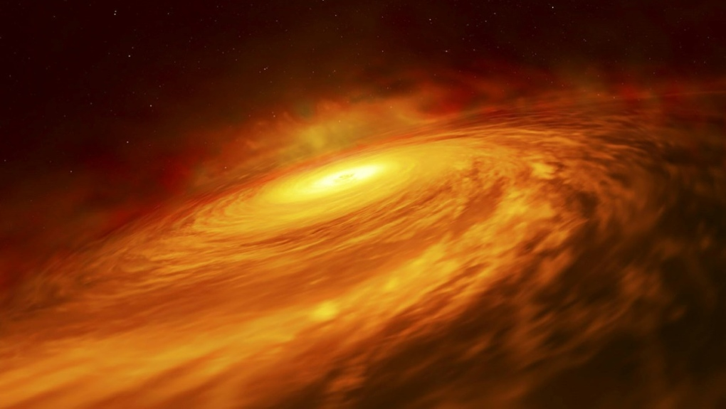 Up to now black holes with mass 100 to 1,000 times that of our Sun have never been found