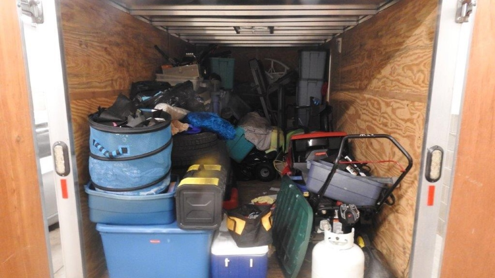 Stolen items in trailer