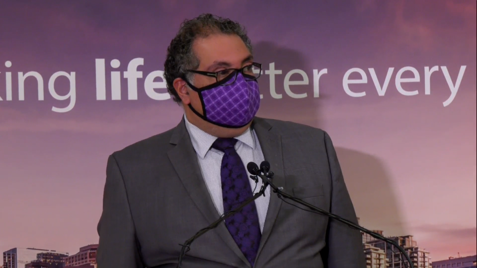 Mayor Nenshi credits mask use for reducing the spread of the coronavirus in Calgary as the growth in the number of active cases, which had doubled on a weekly basis earlier this summer, has slowed