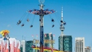 The Swing Tower is seen on the skyline on opening day of the Canadian National Exhibition in Toronto on Friday, August 19, 2011. THE CANADIAN PRESS/Aaron Vincent Elkaim